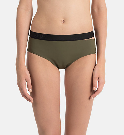 CALVINKLEIN Hipster Bikini Bottom - Cutting Edge Calvin - OLIVE NIGHT -  NEW IN - main image
