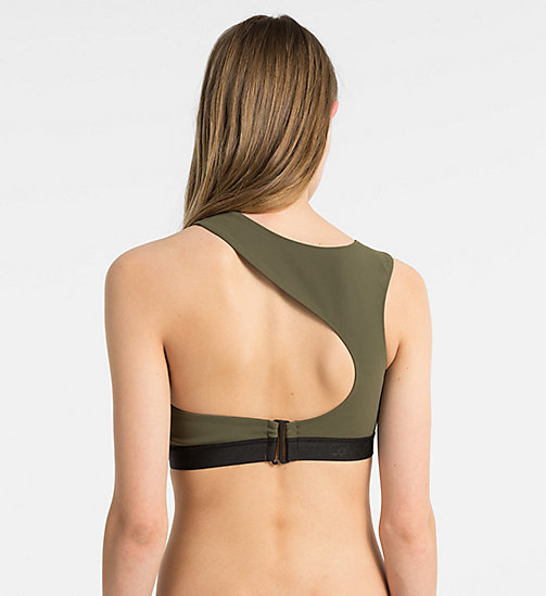 CALVINKLEIN Bralette Bikini Top - Cutting Edge Calvin - OLIVE NIGHT - CALVIN KLEIN NEW IN - detail image 1