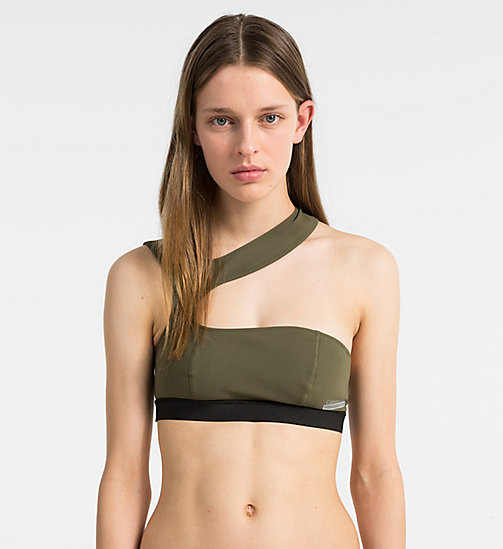 CALVINKLEIN Bralette Bikini Top - Cutting Edge Calvin - OLIVE NIGHT - CALVIN KLEIN NEW IN - main image