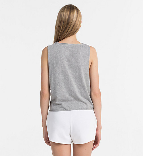 CALVINKLEIN Logo Tank Top - CK NYC - GREY HEATHER - CALVIN KLEIN NEW IN - detail image 1
