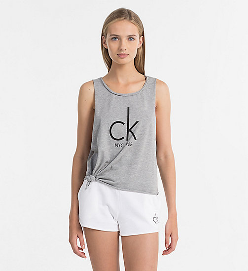 CALVINKLEIN Logo Tank Top - CK NYC - GREY HEATHER - CALVIN KLEIN BEACHWEAR - main image