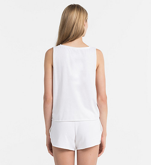 CALVINKLEIN Logo Tank Top - CK NYC - PVH WHITE -  NEW IN - detail image 1