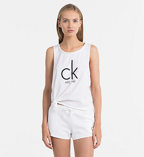 CALVINKLEIN Logo Tank Top - CK NYC - PVH WHITE - CALVIN KLEIN NEW IN - main image