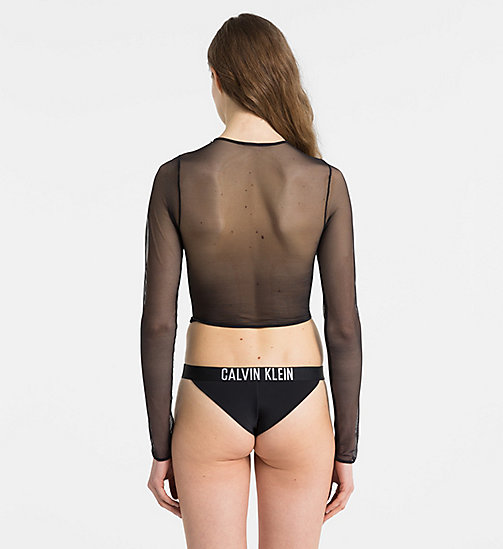 CALVINKLEIN Cropped Mesh-Top - Intense Power - PVH BLACK - CALVIN KLEIN BADEMODE - main image 1