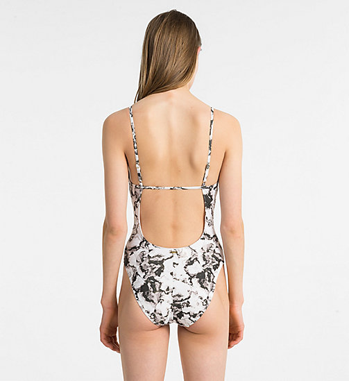 CALVINKLEIN Swimsuit - Core Solids - BLACK WHITE MARBLE PRINT - CALVIN KLEIN SWIMSUITS - detail image 1