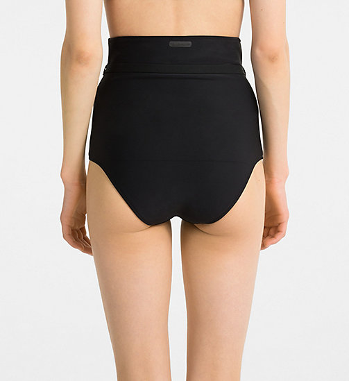CALVINKLEIN High Waist Bikini Bottom - Black Strap - PVH BLACK - CALVIN KLEIN NEW FOR WOMEN - detail image 1