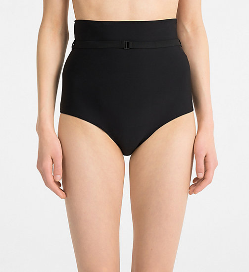 CALVIN KLEIN High Waist Bikini Bottom - Black Strap - PVH BLACK - CALVIN KLEIN NEW FOR WOMEN - main image
