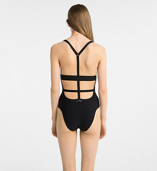 CALVINKLEIN Swimsuit - Black Strap - PVH BLACK - CALVIN KLEIN NEW FOR WOMEN - detail image 1