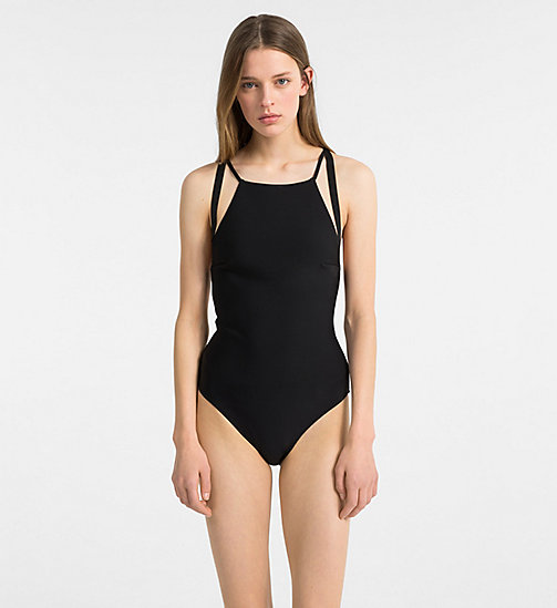 CALVIN KLEIN Swimsuit - Black Strap - PVH BLACK - CALVIN KLEIN NEW IN - main image