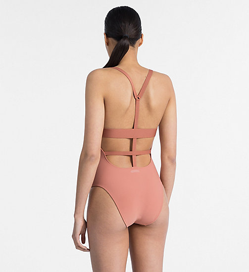 CALVINKLEIN Swimsuit - Black Strap - CEDAR WOOD - CALVIN KLEIN NEW FOR WOMEN - detail image 1