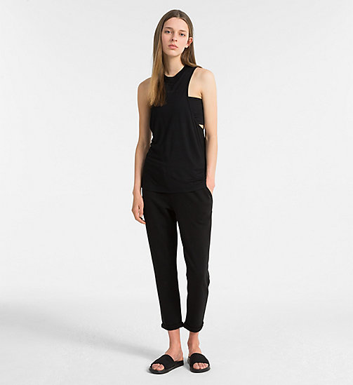 CALVIN KLEIN Beach Tank Top - BLACK - CALVIN KLEIN NEW FOR WOMEN - detail image 1
