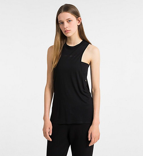 CALVIN KLEIN Beach Tank Top - BLACK - CALVIN KLEIN NEW IN - main image